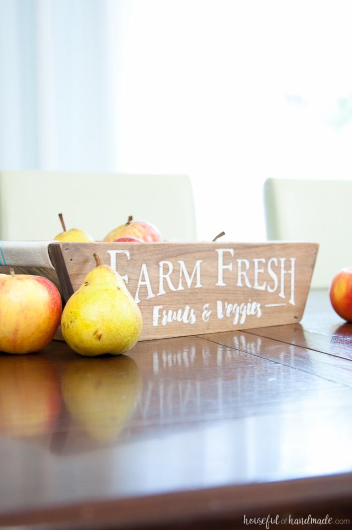 Fall Fruit Basket Display