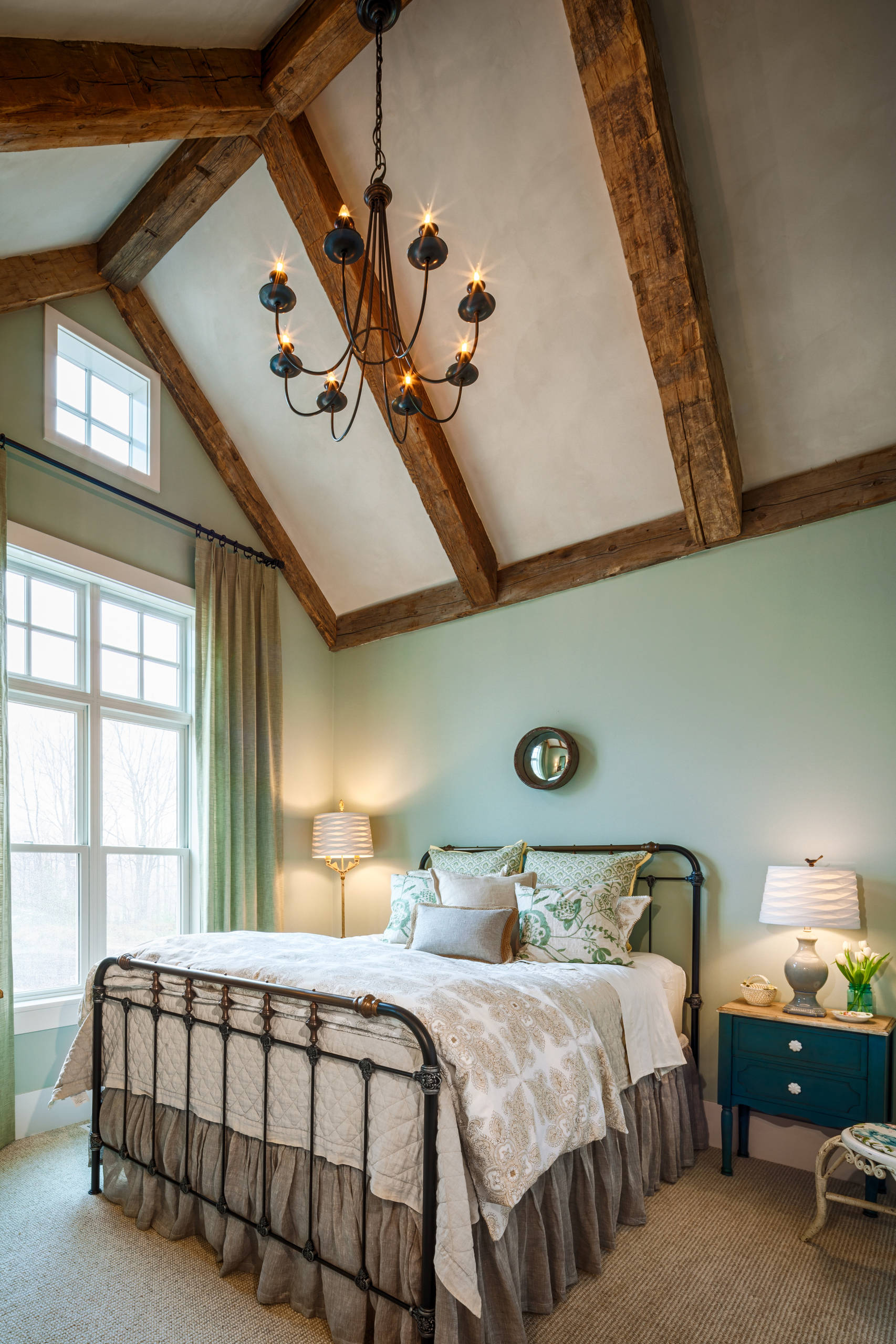 Master Bedroom Ideas Farmhouse Wood Beams