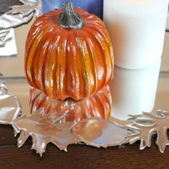Faux Metal Leaf Centerpiece for Fall - Project for Table