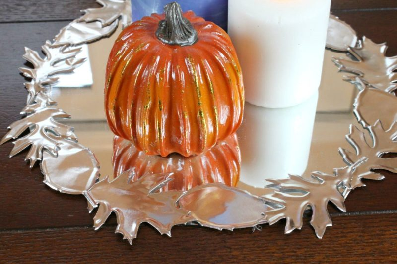 Make a Faux Metal Leaf Centerpiece for Fall