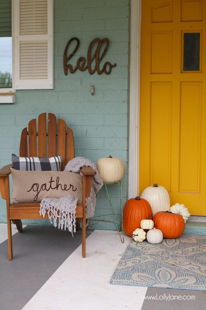 Porch Pumpkin Arrangement