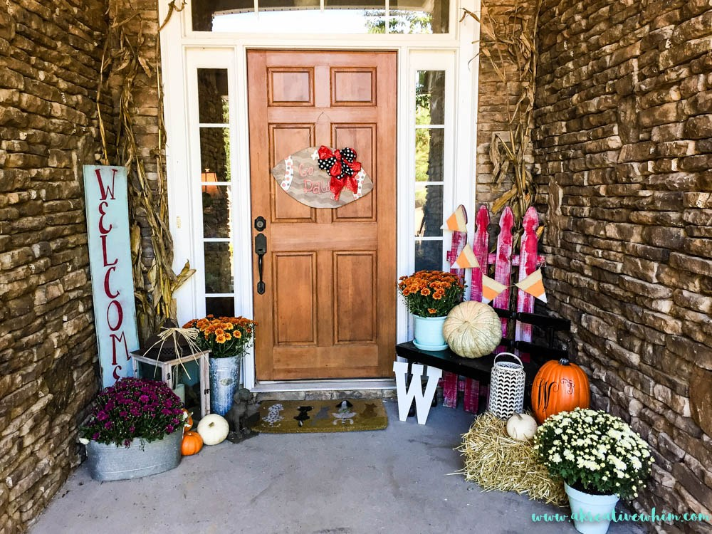 Welcome Fall Porch Display
