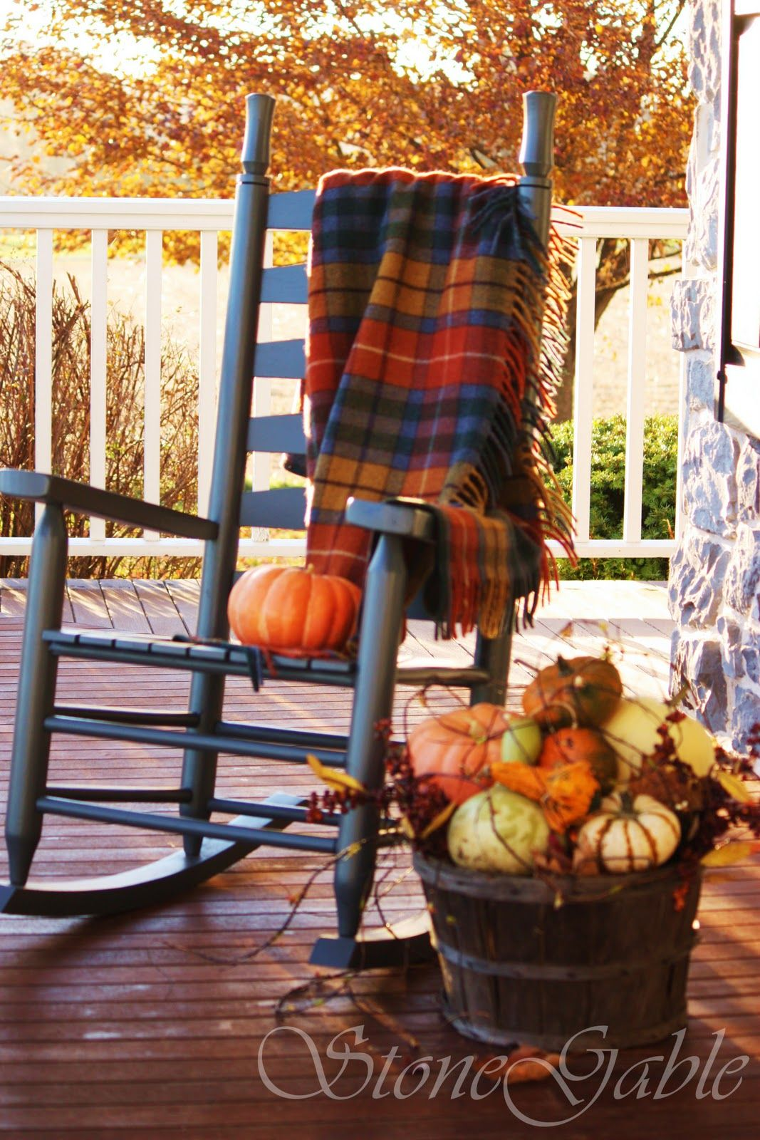 Cozy Fall Rocking Chair