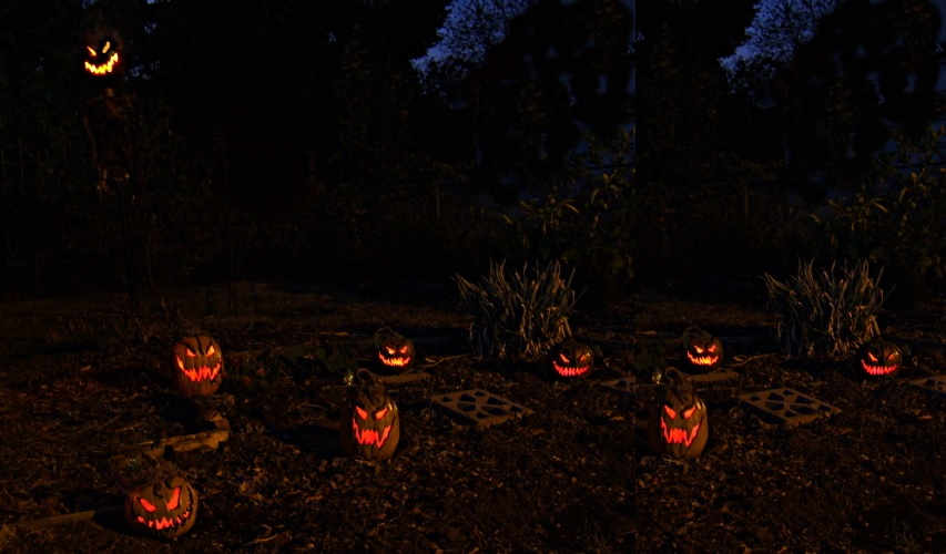 Front yard pumpkin decorating night - Scary Halloween Decorations That'll Give You The Jitters