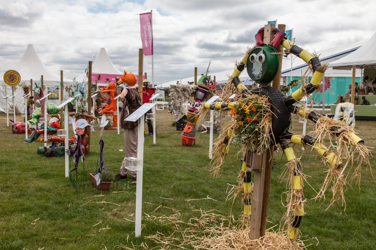 Not all scarecrows depict humans. In fact, some of the most interesting ones don't