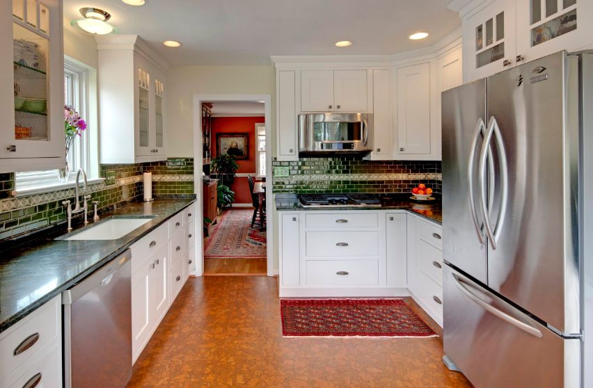 Kitchen floor types that make homes look amazing while for Reseal cork flooring
