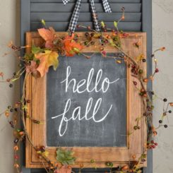 Hello Fall - wreath from an old frame