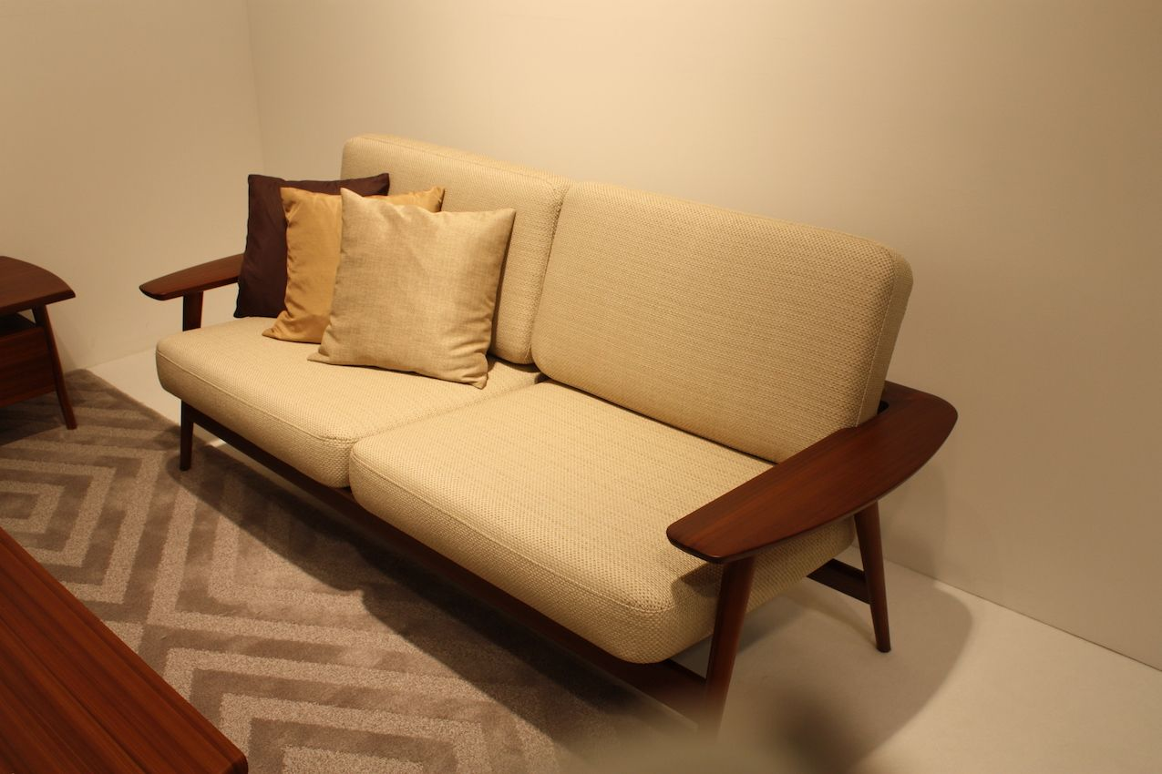 In this sofa, the wood is more of an accent than a major feature.