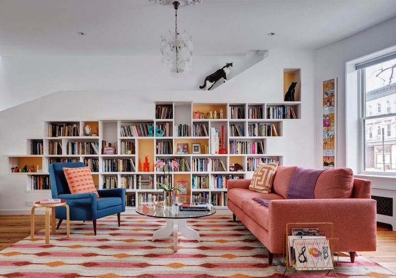 A Charming Home For Two Cats And Their Book-loving Humans