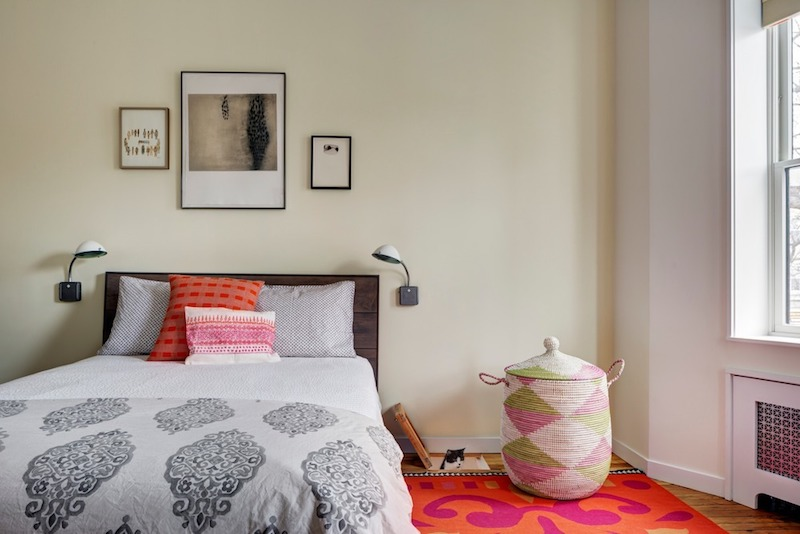 Every room has quirky pops of color that give it a fun and dynamic look full of character
