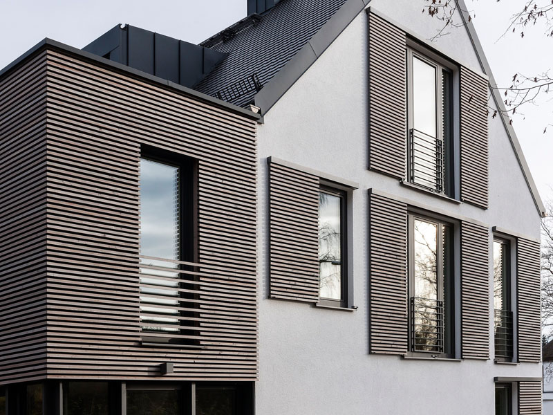 Modern house shutters that reinvent the concept of privacy - Pictures of exterior shutters on homes ...
