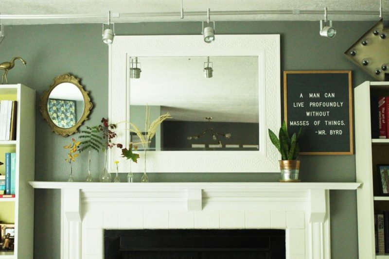 Less is More: How to Declutter a Mantel