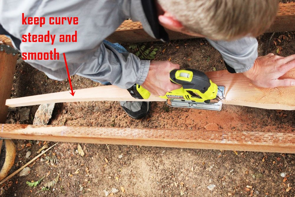How to Install Curved Deck Floor -A jigsaw has a tendency to wobble a bit as you go
