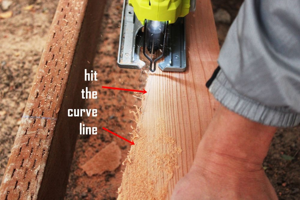 How to Install Curved Deck Floor-You may miss parts of the curve line initially