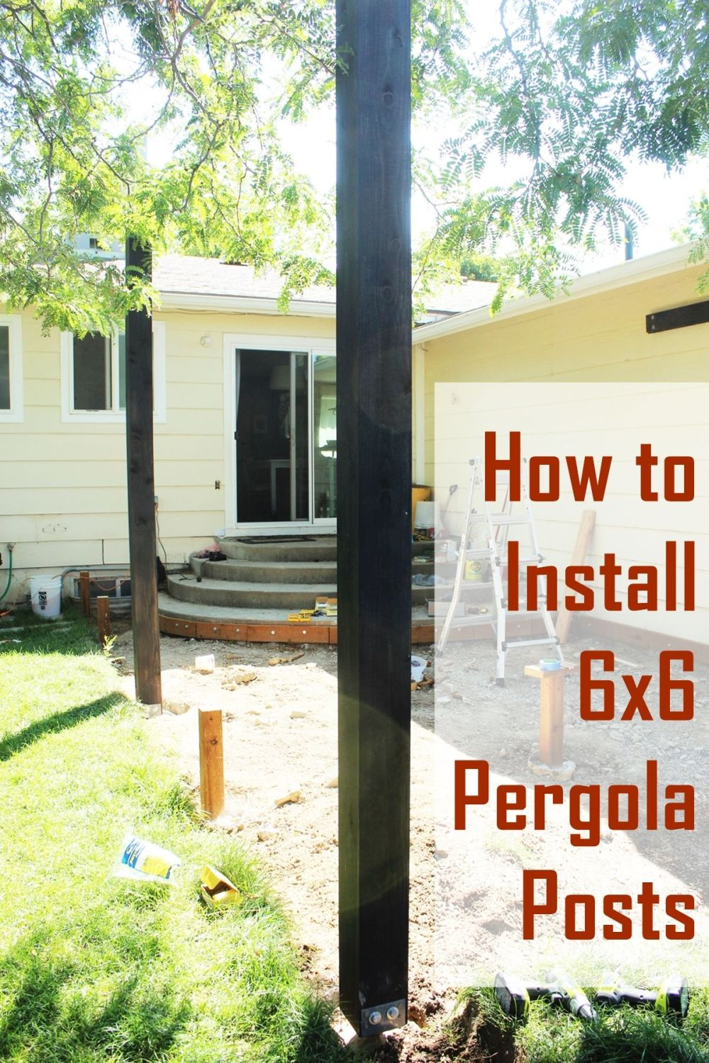 Postcard How To Build Global Community: How To Install Pergola Posts