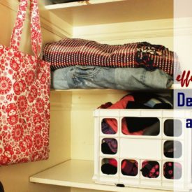 How to declutter a closet step by step