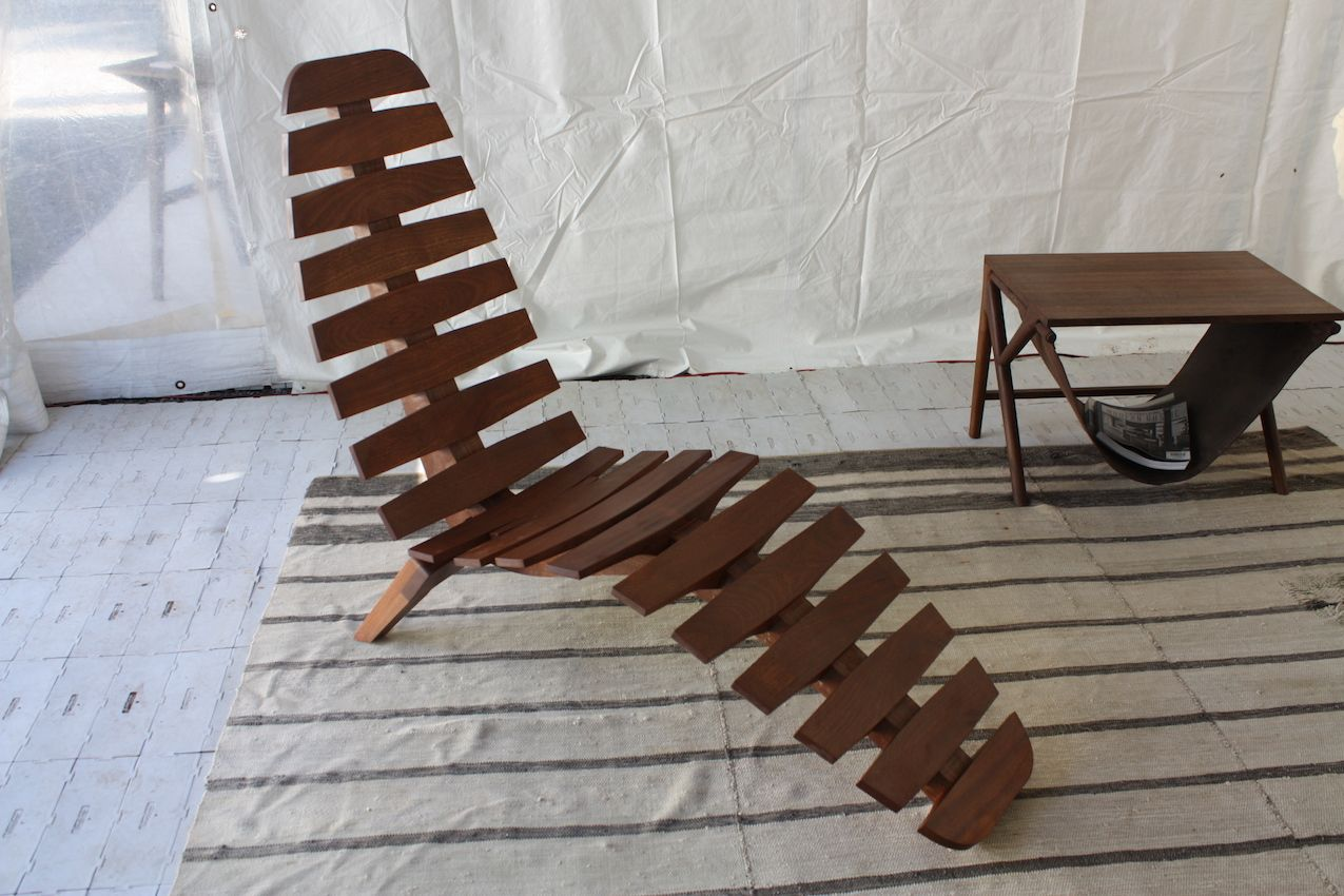 Dan Howell's hand-crafted, fern-like chaise longue is reminiscent of a fighting chair.