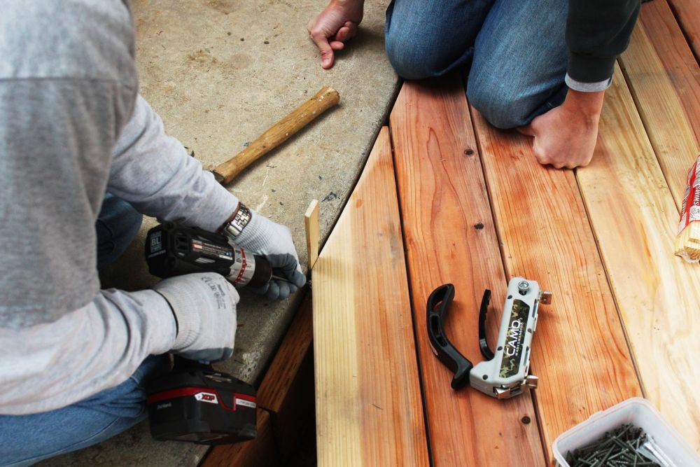 Spacer For Concrete Deck : How to install a curved deck floor