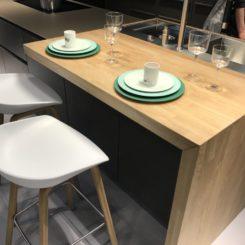 Kitchen island breakfast area - white modern bar stools seat