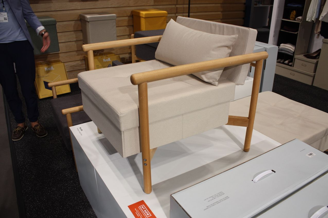 This modern chair ships flat and is easily assembled.