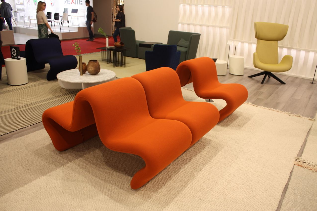 Another example of different geometries at play is this sofa and tables from Petite Friture.