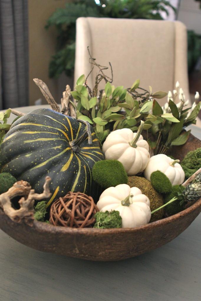DIY Foraged Fall Bowl Centerpiece