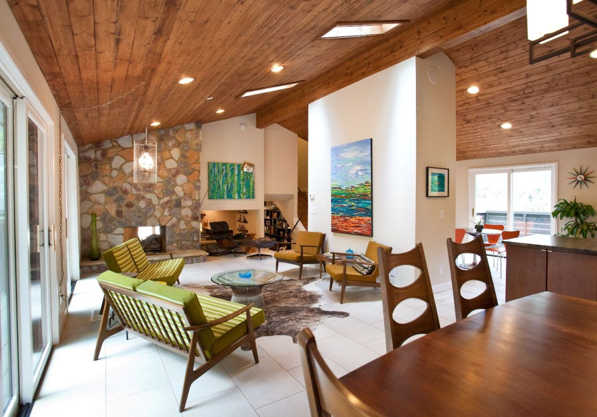 Today's open floorpans stem from mid-century modern's open spaces.