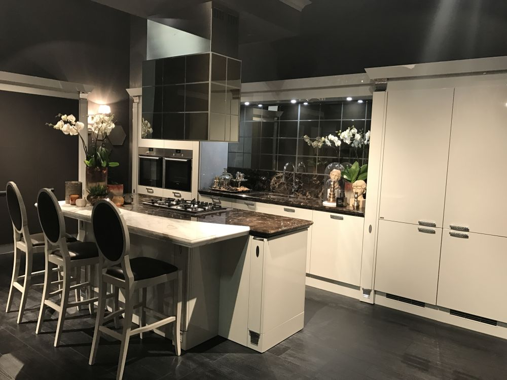 The cool thing about a one-wall kitchen is that you can add an island and maximize its functionality