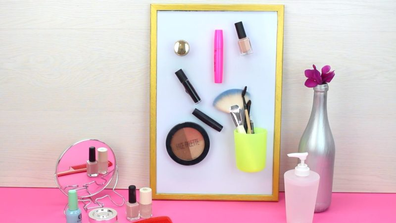 Manage Your Makeup with a Magnetic Board