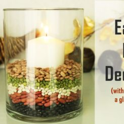 One Candle + Glass Bowl: Six Ways for Fall