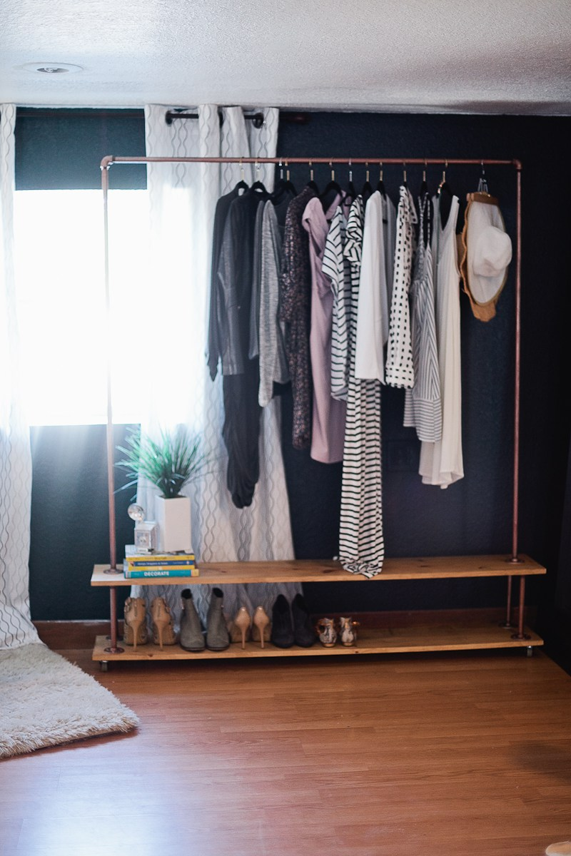 Chic and Practical DIY Clothes Racks That Put Your Wardrobe On Display images 5