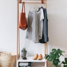 Mid century clothing rack