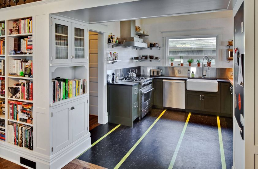 Kitchen floor types that make homes look amazing while for Modern linoleum flooring