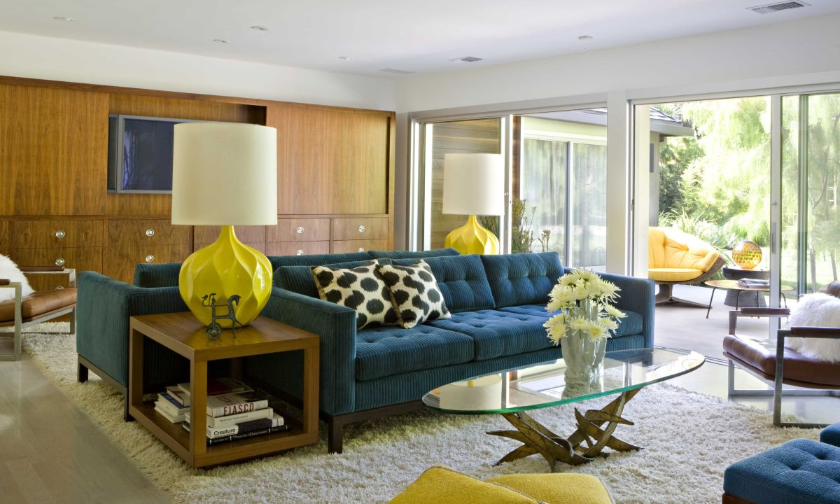 Color, open space and a light and airy feel are elements of mid-century modern design.