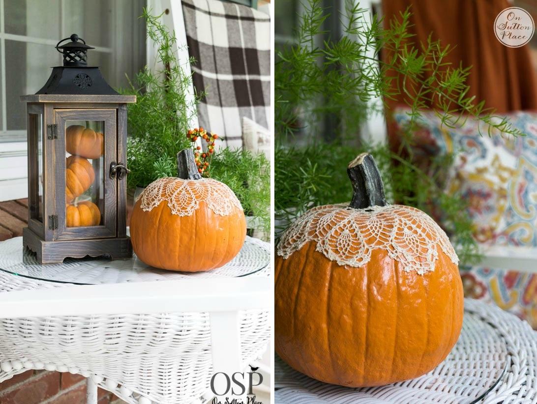 DIY Pumpkin Doily