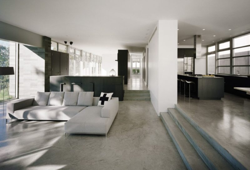 16 Times When Concrete Floors Made Living Rooms Look Stunning