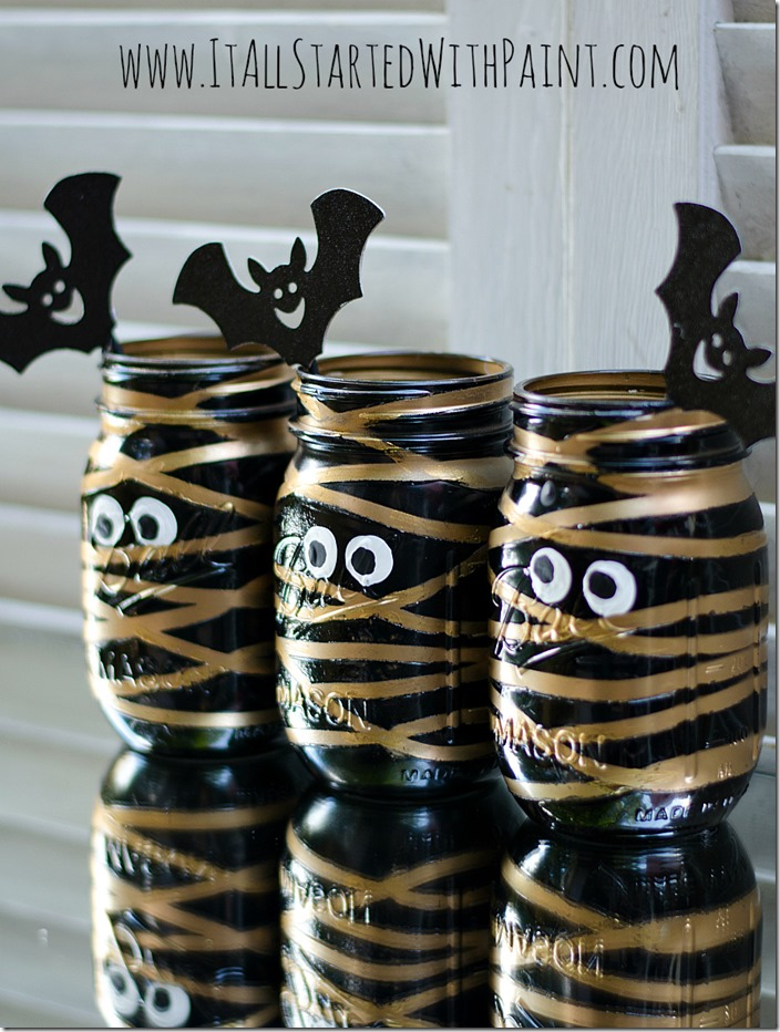 Mummy mason jars decor for halloween - Scary Halloween Decorations That'll Give You The Jitters