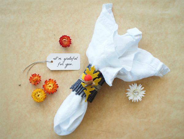 DIY Fall Felted Napkin Rings