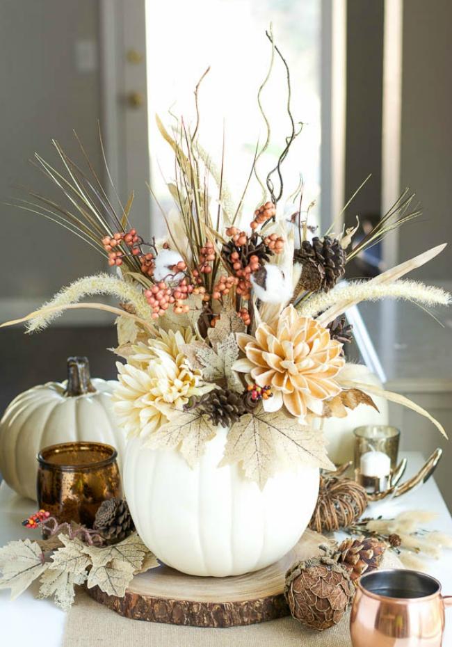 Fall Faux Pumpkin Vase