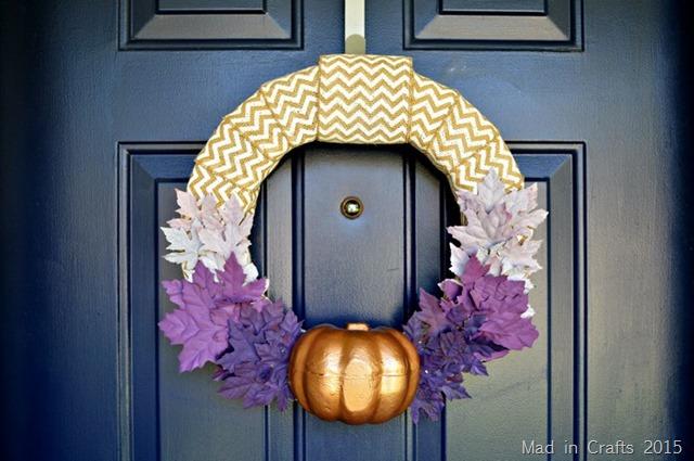 Unique Purple and Bronze Wreath