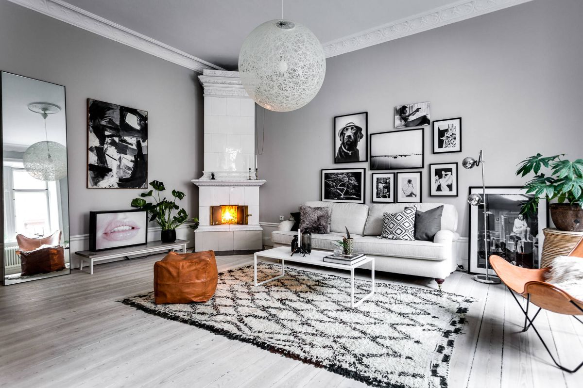 view in gallery - Scandinavian Living Room