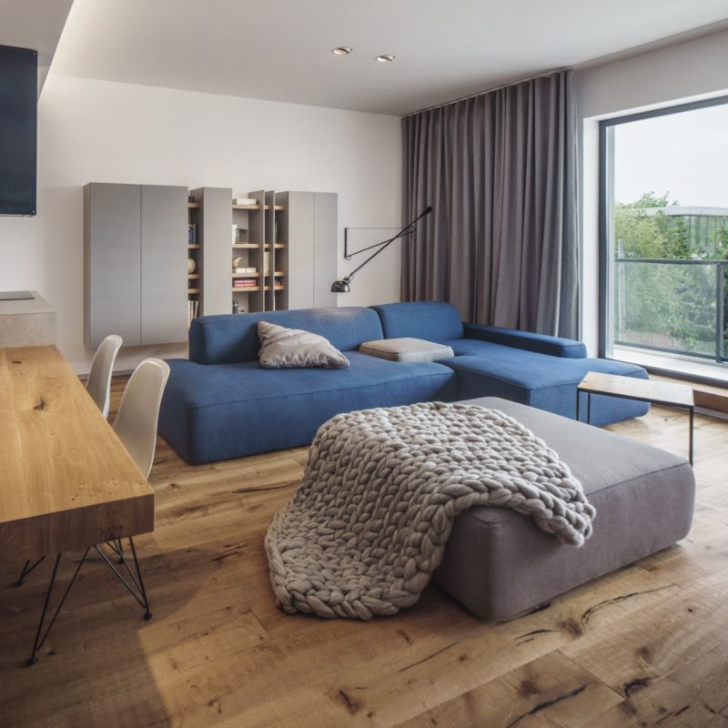 Design-Forward City Apartment Mixes Materials and Textures