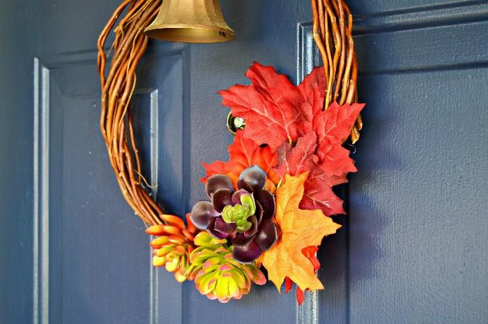 Stylish Faux Succulent Wreath