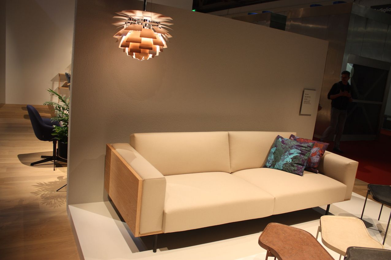 Geometric shapes are a staple of mid-century modern design, and this sofa is a good example.