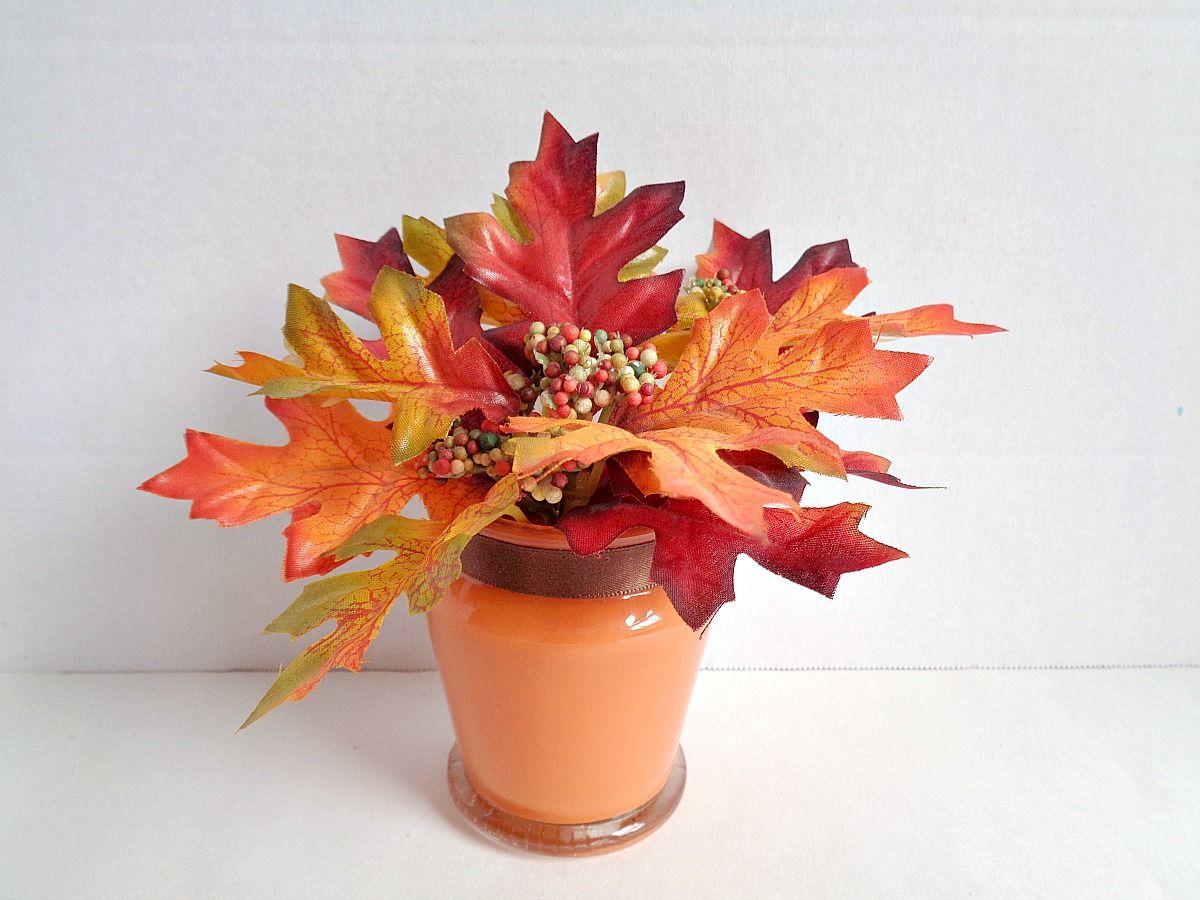 Fall Foliage Candle Centerpiece