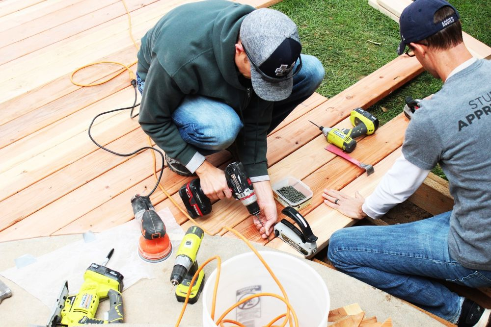 We recommend using two or three people to install each board