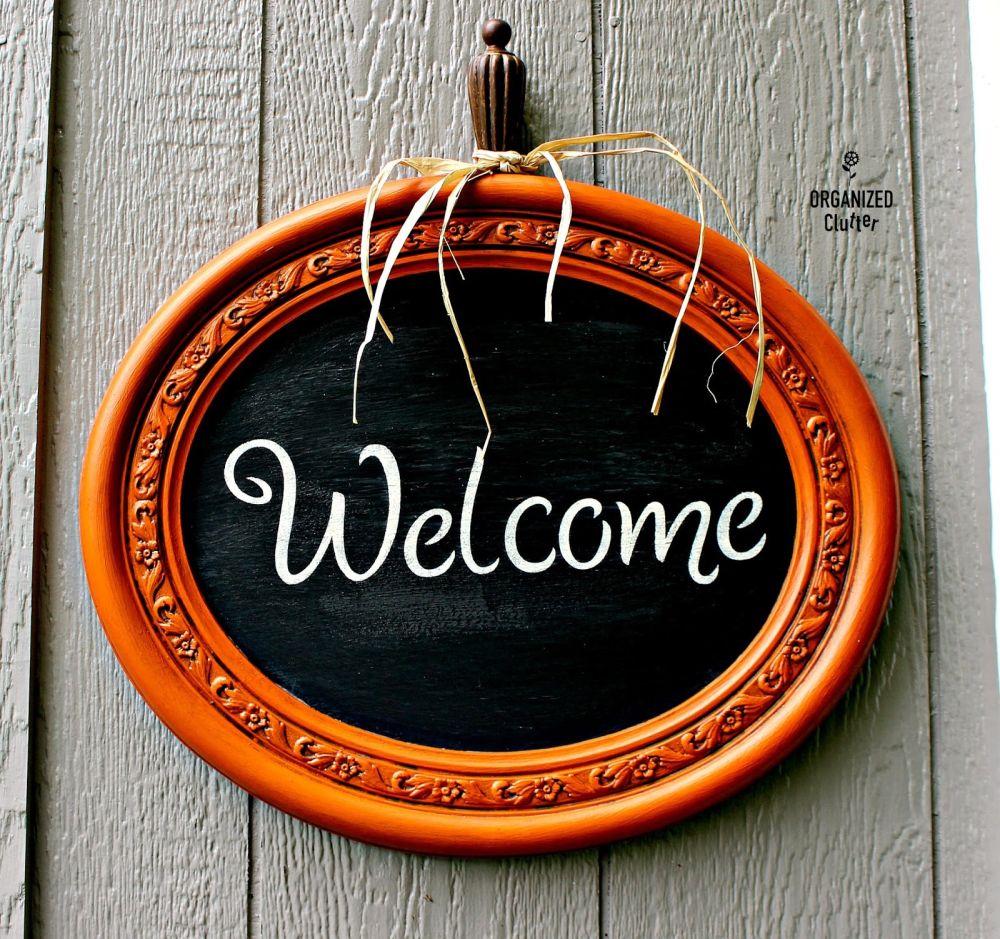 Chalk Paint Welcome Door Sign
