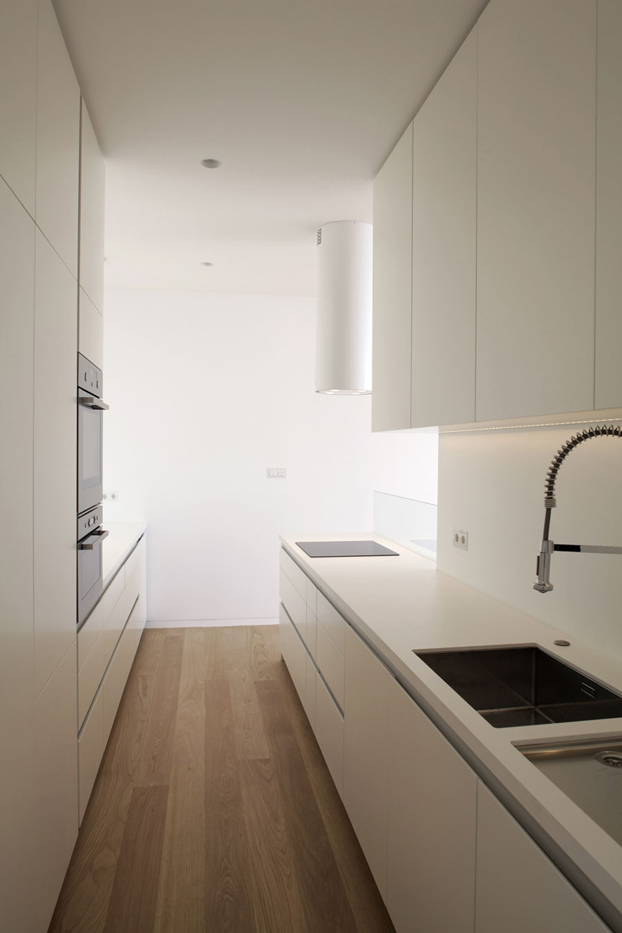Unlike other kitchen types, galley layouts are long, narrow and less flexible