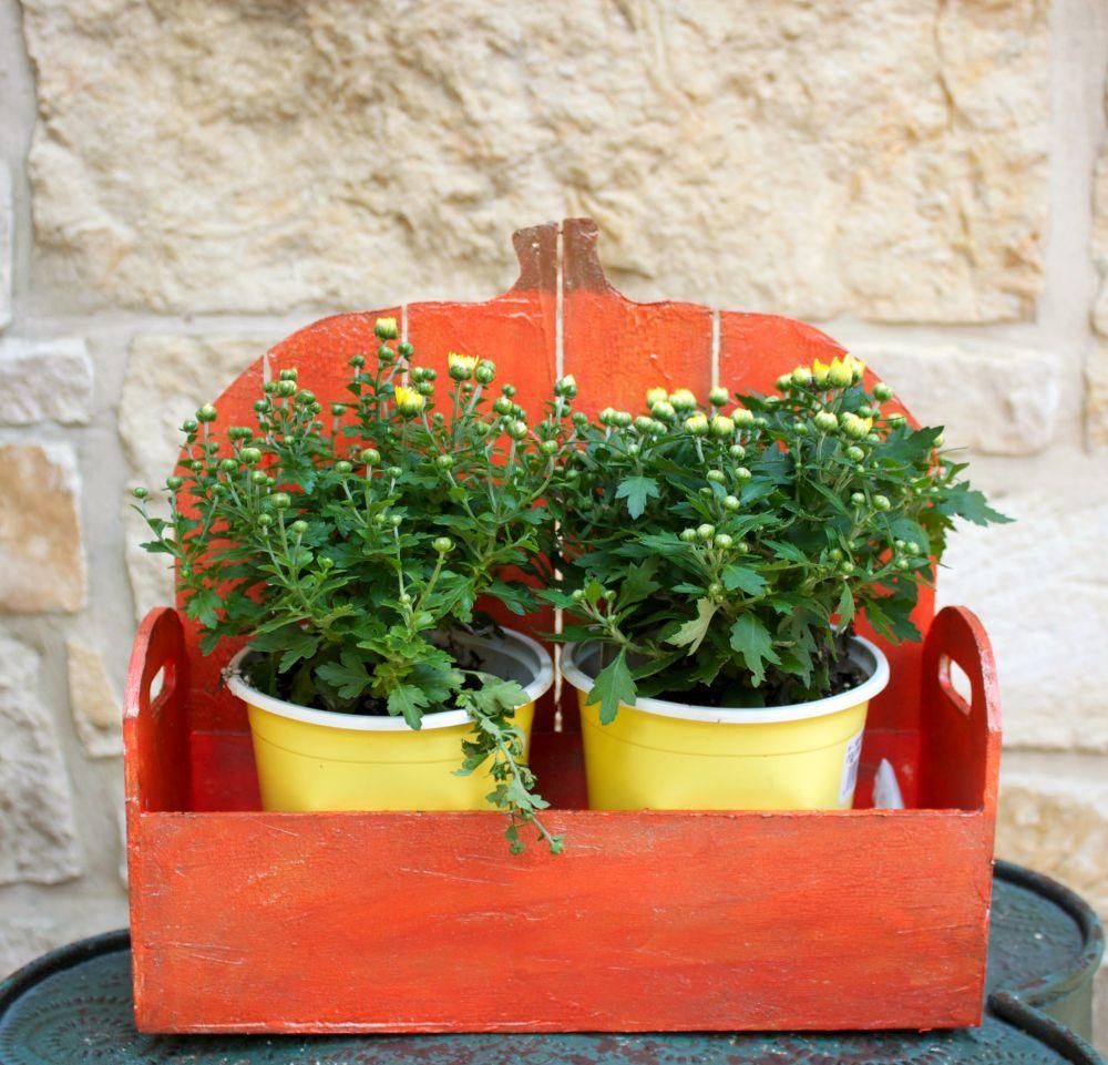 Wood Pumpkin Basket