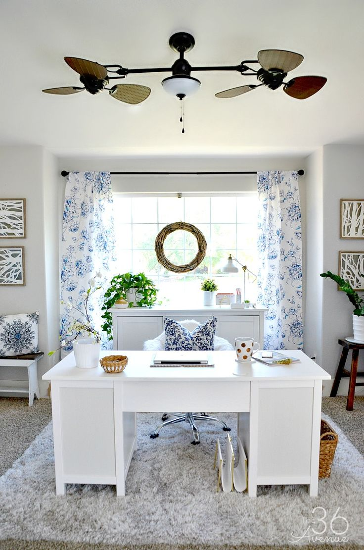Diy Home Design Ideas. Girlish Home Office 40 Pieces Of Farmhouse Decor To Use All Around The House